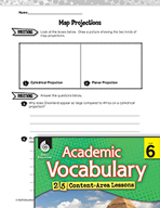 Academic Vocabulary Level 6 - Map Projections