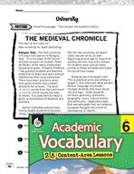 Academic Vocabulary Level 6 - Reading Informational Texts