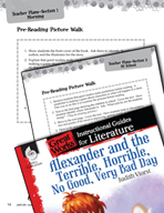Alexander and the Terrible, Horrible - Pre-Reading Activit