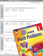 Algebraic Thinking Leveled Problem: Writing Equations with