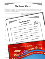 American History Word Researches: The Korean War