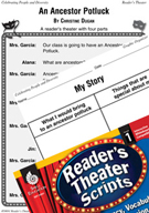 An Ancestor Potluck Reader's Theater Script and Lesson