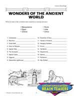 Ancient Civilizations Critical Thinking Activities and Bra