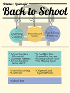 Back to School Activities, Patterns, and Stories for Grades PK-2