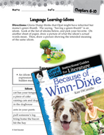 Because of Winn-Dixie Language Learning Activities (Great