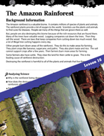 Biomes and Ecosystems Inquiry Card - The Amazon Rainforest