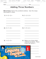 Brain-Powered Lessons - Adding Three Numbers