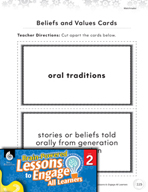 Brain-Powered Lessons - Sharing Beliefs and Values