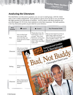 Bud, Not Buddy Leveled Comprehension Questions (Great Work