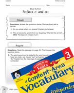 Content-Area Vocabulary Level 3 - Prefixes e- and ex-