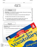 Content-Area Vocabulary Level 4 - Prefix de-