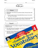 Content-Area Vocabulary Level 4 - Prefix per-