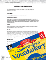 Content-Area Vocabulary Level 5 - Card -  Games and Word G