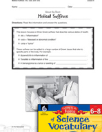 Content-Area Vocabulary Science - Medical Suffixes -itis,