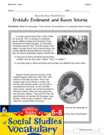 Content-Area Vocabulary Social Studies - Base arch-, -archy