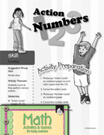 Counting - Action Numbers Activity