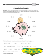 Critical Thinking Activities Algebra - Factors and Fractions