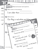 Daily Language Practice for First Grade (Week 17)