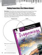 Dragonwings Making Cross-Curricular Connections (Great Wor