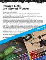 Energy Inquiry Card - Infrared Light, the Wireless Wonder