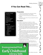 Environmental Print and Building Vocabulary: If You Can Re