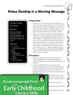 Environmental Print and Fluency/Comprehension: Morning Mes