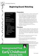 Environmental Print and Phonological Awareness: Beginning-