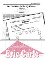 Eric Carle Literature Activities - Do You Want to Be My Friend?