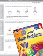 Expressions and Equations Leveled Problems: Various and Su