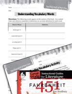 Fahrenheit 451 Vocabulary Activities (Great Works Series)