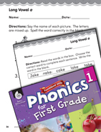 First Grade Foundational Phonics Skills: Long Vowel a