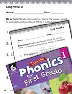 First Grade Foundational Phonics Skills: Long Vowel e