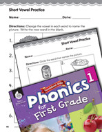 First Grade Foundational Phonics Skills: Short Vowel Practice