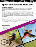 Forces and Motion Inquiry Card - Sports and Newton's Third Law