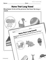 Foundational Skills: Long Vowels Practice