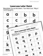 Foundational Skills: Lowercase Letters Practice