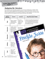Freckle Juice Leveled Comprehension Questions (Great Works