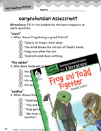 Frog and Toad Together Comprehension Assessment (Great Wor