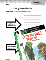 Frog and Toad Together Studying the Story Elements (Great