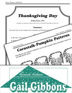 Gail Gibbons Literature Activities - Thanksgiving Day