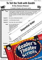 Gandhi Reader's Theater Script and Lesson