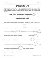 Geometry: 2-D Shapes Practice