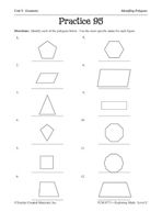 Geometry: Identifying Polygons Practice