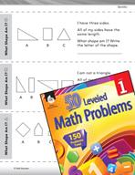 Geometry Leveled Problem: 2-D Shapes - What Shape Am I?