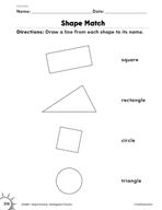 Geometry: Shape Match  Practice