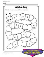 Grade 1 Alphabetical Order Critical Thinking Activities