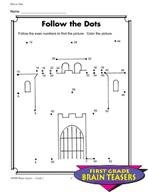 Grade 1 Dot-to-Dot Puzzles