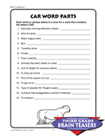 Grade 3 Word Completion Puzzles