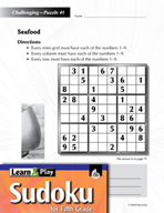 Grade 5 Hard Sudoku Puzzles 41–45