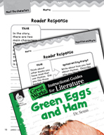 Green Eggs and Ham Reader Response Writing Prompts (Great